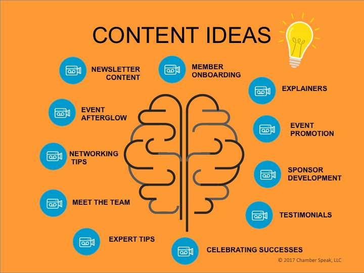 video content ideas for chambers of commerce
